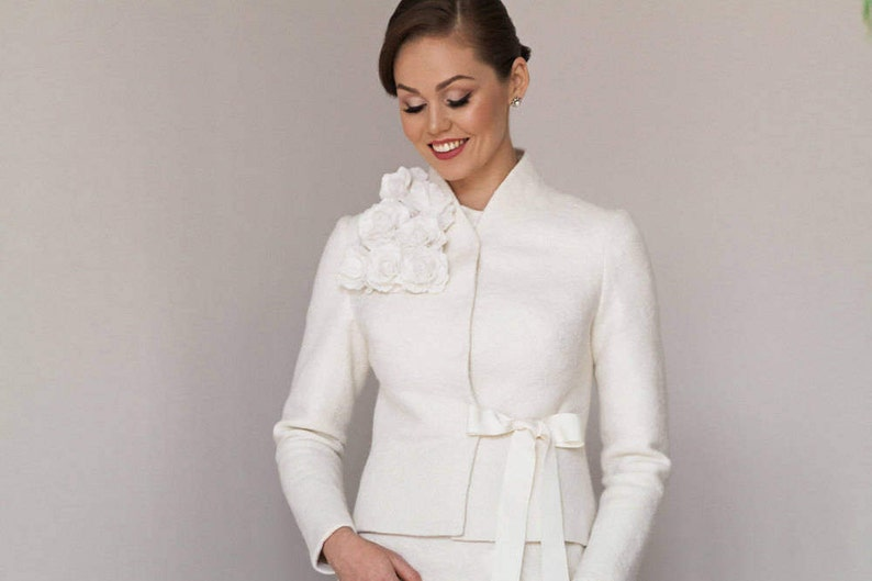 a976f273ffe3 Giacca da sposa Cardigan da sposa Bianco nozze giacca da
