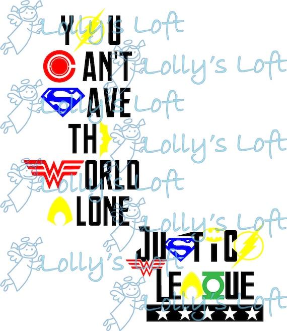 Justice League SVG EPS Cut File For Silhouette