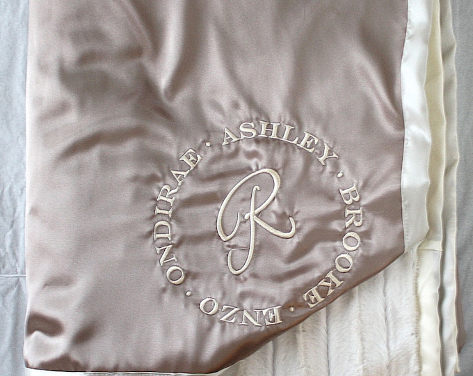 Minky Blanket, satin and minky, blanket for family, adult blanket, adult minky blanket, gold blanket, wedding gift, anniversary blanket