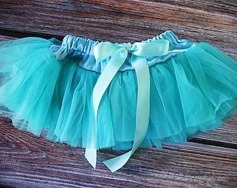 Chiffon Pixie Pettiskirt Tutu, baby tutu, baby girl skirt, white skirt, Teal skirt, pettiskirt, girl tutu, blue tutu, teal tutu, teal tutu