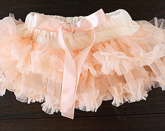 Baby Girl, Pettiskirt, birthday skirt, cake smash skirt, tutu, ballerina tutu, ballet skirt, fluffy ruffle skirt, lavender tutu, peach skirt