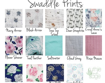 Swaddle blanket, wrap blanket, double gauze, cotton newborn wrap, cotton, newborn prop, twins, arrow embrace modern baby girl, baby boy