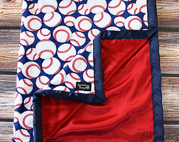 Baby Minky Blanket, Sports Minky Blanket, Baseball Blanket, Football Blanket, Basketball Blanket, Boy Minky, Baby boy blanket