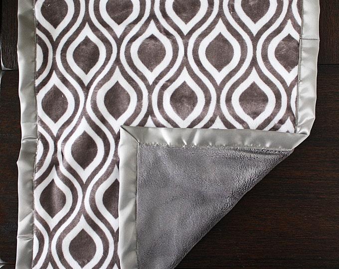 Custom Minky Blanket, Oyster Blanket, Oceana, baby boy blanket, baby girl blanket, Grey blanket, Elefante Oyster, baby gift, lovie, lovey