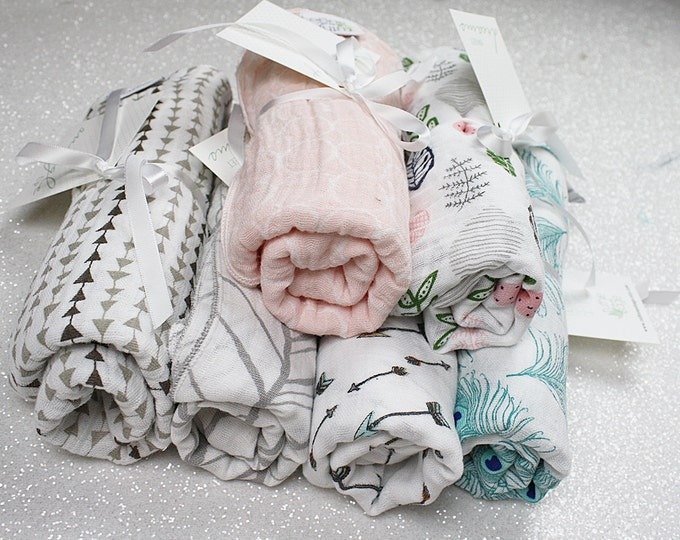 Swaddle blanket, wrap, swaddling blanket, double gauze, newborn blanket, cotton, newborn photography, baby blanket, baby girl, baby boy
