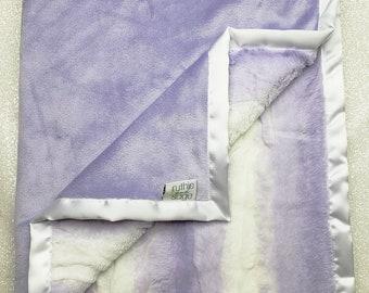 Minky blanket, faux fur throw, Lavender Angora, baby girl blanket, vintage pink, elegant blanket, plush blanket, gift ideas, adult minky