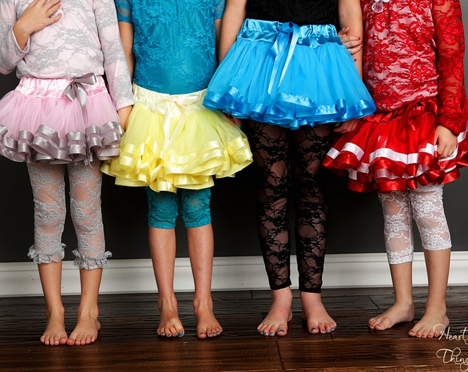 Lace Leggings, Lace tights , lace leggins, pettiskirt, blessing outfit leggings for girls leggings for big girls, child leggings, lace pants