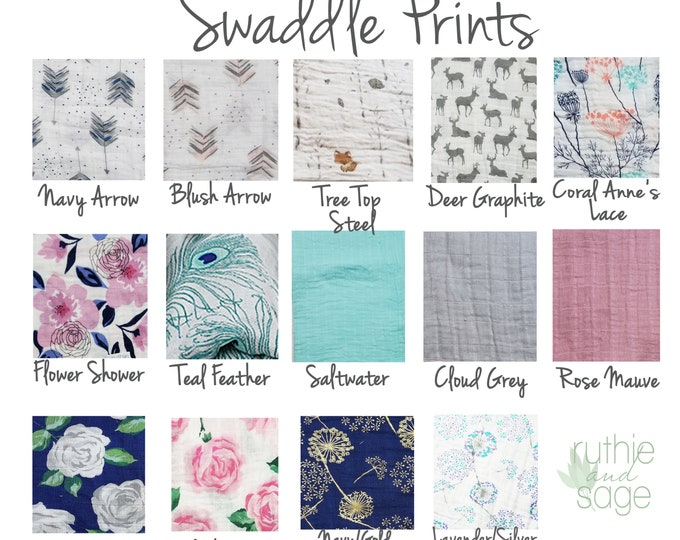 Swaddle blanket, wrap blanket, double gauze, cotton newborn wrap, cotton, anchor, photography prop, baby blanket, modern baby girl, baby boy