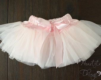 Baby Girl Pettiskirt, Pixie Skirt, Tutu, Ballerina Skirt, Newborn Outfit, photo shoot, Cake Smash Skirt, Birthday outfit, Antique pink Blush