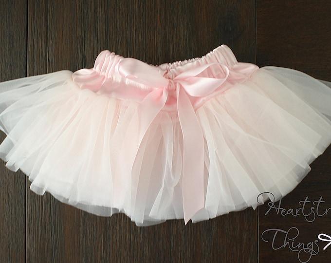 Baby Girl Pettiskirt, Pixie Skirt, Tutu, Ballerina Skirt, Newborn Outfit, photo shoot, Cake Smash Skirt, Birthday outfit, Antique pink Blush