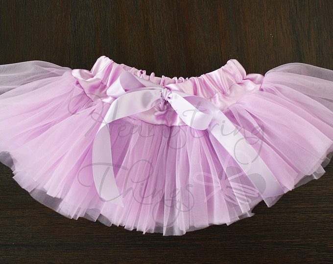 Baby Girl Pettiskirt, Newborn Tutu, Cakesmash Tutu, Birthday Skirt, Chiffon Skirt, Soft tutu, Lavender Skirt, Hospital outfit, Photo Prop