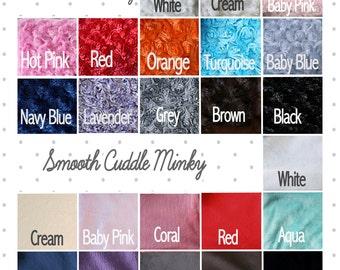 Custom Minky Blanket, Minky Blanket, baby gift, baby girl blanket,  make your own blanket, baby girl minky, gift for women, wedding gift