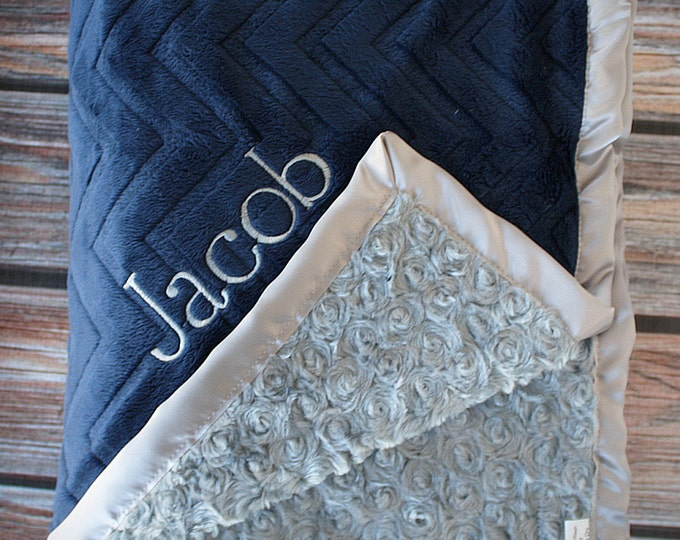 Embroidered Minky Blanket, gift for baby, baby boy, personalized blanket, Blanket with name, Personalized baby blanket, monogrammed blanket