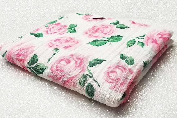 Swaddle Blanket Wrap Double Gauze Newborn Blanket Floral Etsy