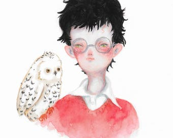 Harry and Hedwig - original painting