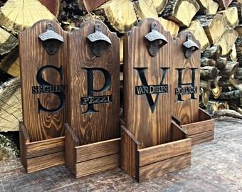 8bc6d67ea43d Beer Opener - Cap Catcher - Groomsmen gift - Wall Mounted Bottle Opener -  Beer Gift - Cast Iron gift for him - Home bar sign