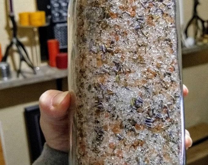 Himalayan Pink Salt, Dead Sea Salt, Lavender & Mint Soothing Bath and Foot Soak