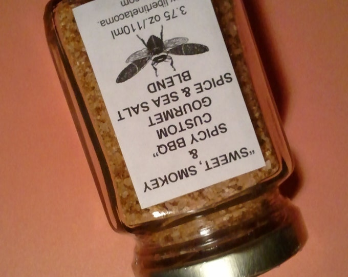 Sweet, Smokey & Spicy BBQ Sea Salt Blend in a Variety of Sizes