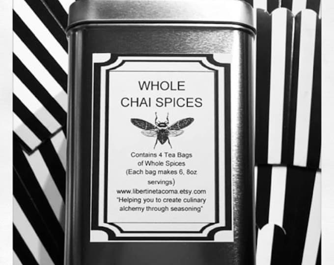 Whole Chai Spices in Tin