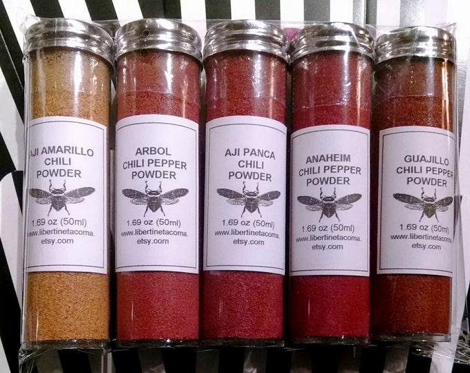 Chili Pepper Powder 5 Vial Set