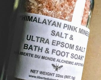 Himalayan Pink Salt & Ultra Epsom Salt Bath and Foot Soak