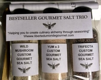 Bestseller Gourmet Custom Blend Sea Salt Sampler Trio