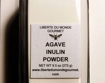Agave Inulin Powder in 16 ounce French Glass Bottle