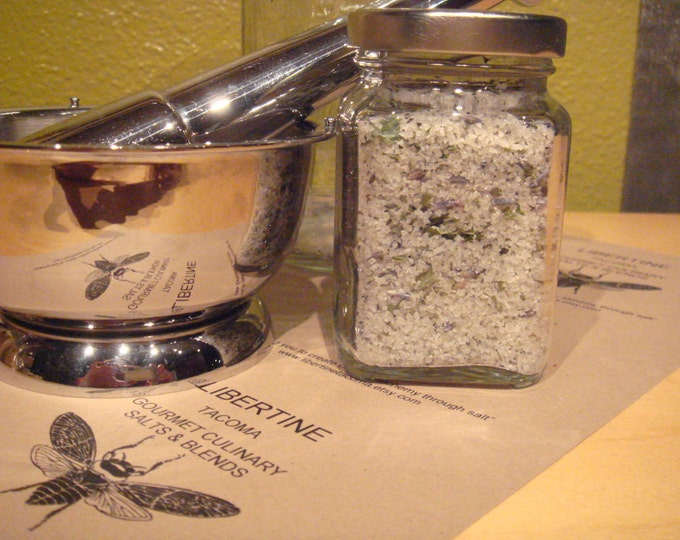 Lavender and Mint French Grey Sea Salt in a Variety of Sizes