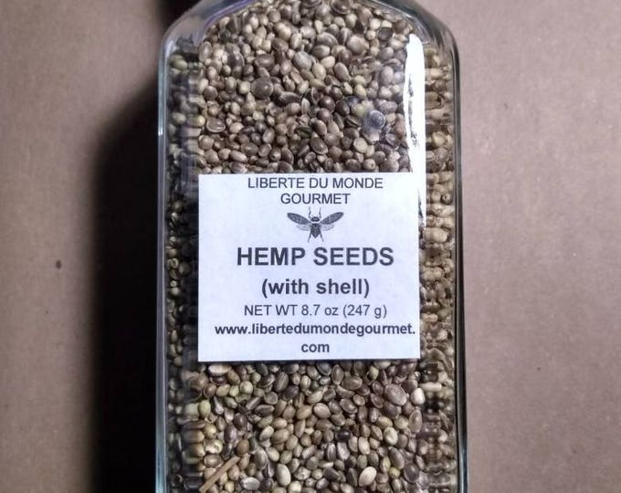 Hemp Seeds with Shell in a Variety of Sizes and Packaging