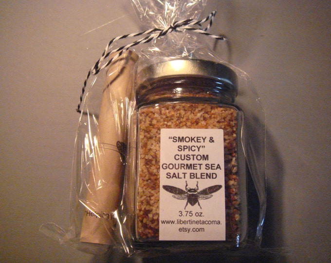 Smokey & Spicy Gourmet Sea salt Blend in a Variety of Sizes