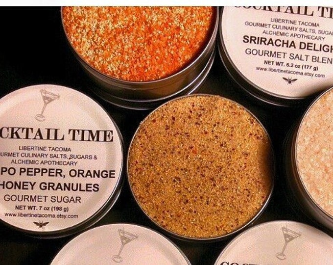 Cocktail Time Gourmet Cocktail Rimming Sugars & Salt Blends 8 oz Tin