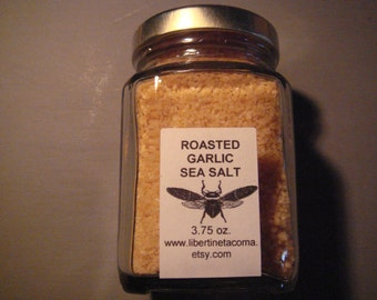 Roasted Garlic Gourmet Culinary Sea Salt in a Variety of Sizes