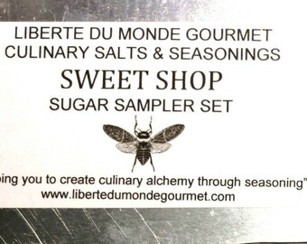 10 Tin Sweet Shop All Natural Sugar Sampler Set