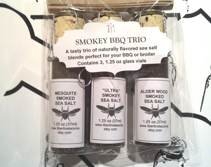 Smokey BBQ Trio 3 Vial Sea Salt Set