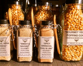 Gourmet Popcorn Seasonings and Popping Corn