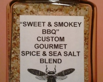 Sweet & Smokey BBQ Gourmet Sea salt Blend in a Variety of Packaging