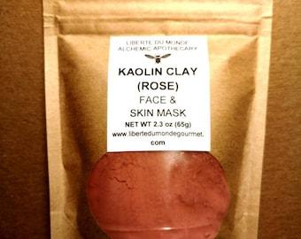 Kaolin Clay (Rose) Powder Face & Skin Mask