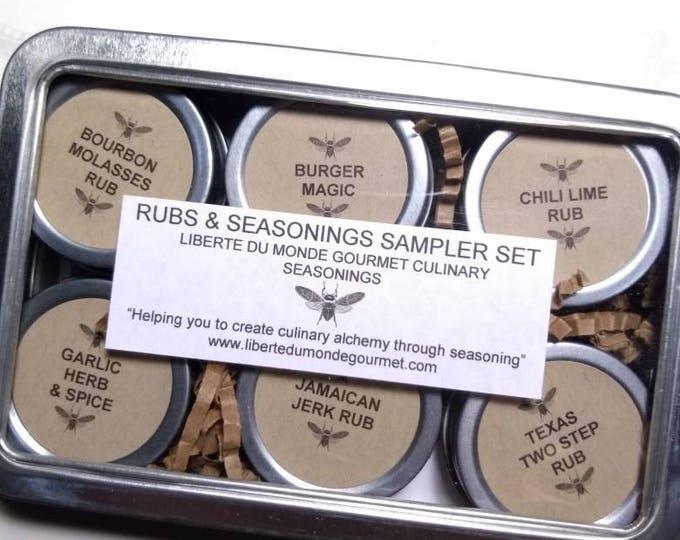 Rubs & Seasonings Sampler Set half ounce tins