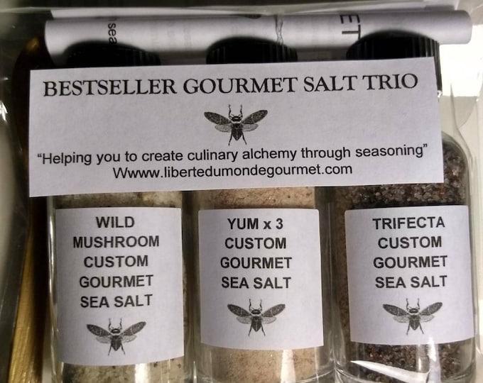 Bestseller Gourmet Custom Blend Sea Salt Sampler Trio