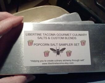 10 Tins Popcorn Salt Sampler Set