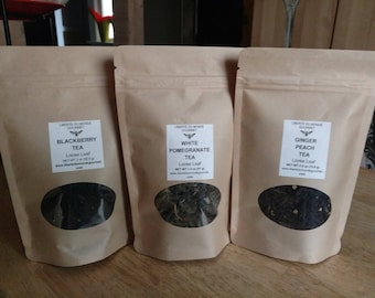 Green, Black or White Loose Leaf Tea in a Variety of Sizes