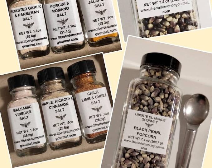 Popcorn & Seasoning Salts in a variety of styles