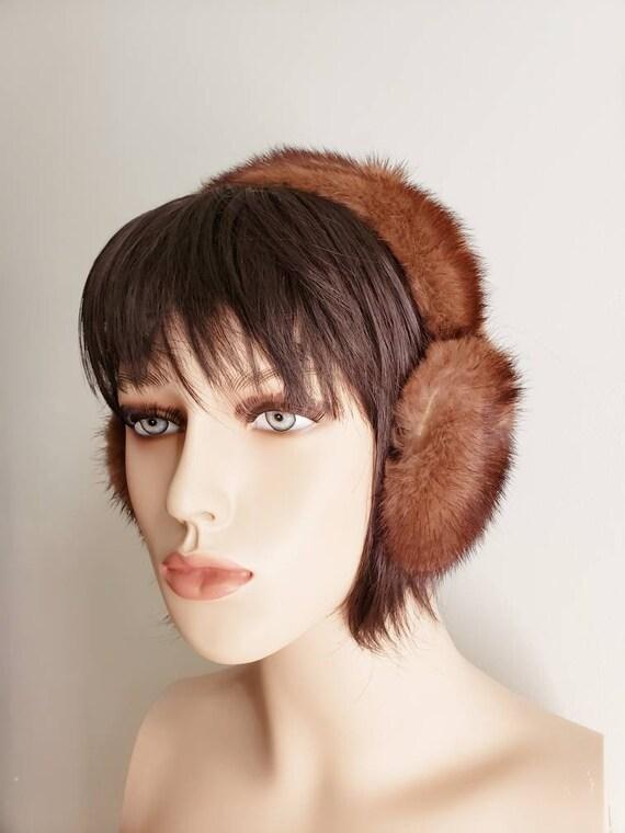 Vintage Mink Fur Ear Muffs