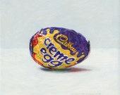 Cadbury Creme Egg. Giclée print.