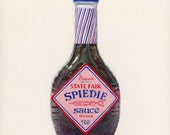 Spiedie Marinade. Original egg tempera illustration from 'The Taste of America' book.