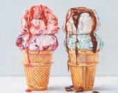 Ice Creams 3. Limited edition giclée print.
