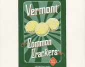 Common Crackers. Original egg tempera illustration from 'The Taste of America' book.