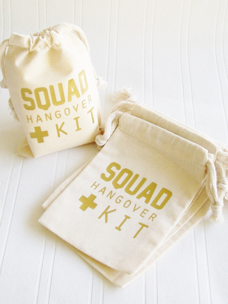 Squad Hangover Kit Bag Bachelorette Party 21st Birthday