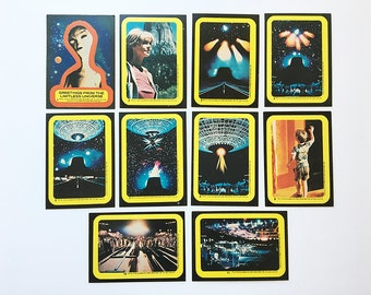 Lot Vintage 70's CLOSE ENCOUNTERS of the Third Kind Movie Trading Card Stickers