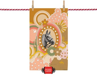 Pinto High Noon TEA TOWEL ~ Limited Edition ~ Wall Hanging
